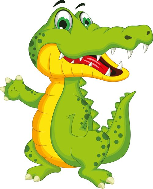 Cute crocodile cartoon styles vectors 07 | Дидактический ...