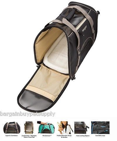 Carriers and Totes 177788: Bergan Dog Cat Pet Airline Comfort Carrier Tote With Fleece Bed Large Black -> BUY IT NOW ONLY: $39.99 on eBay!