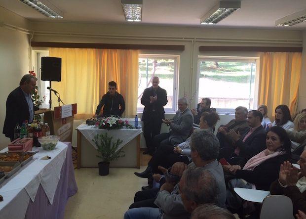Ο Αντιπεριφερειάρχης Ανατολικής Αττικής στην κοπή της πίτας του Κέντρου Υγείας Νέας Μάκρης