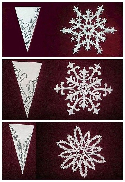 The origami DIY snowflake paper cutting