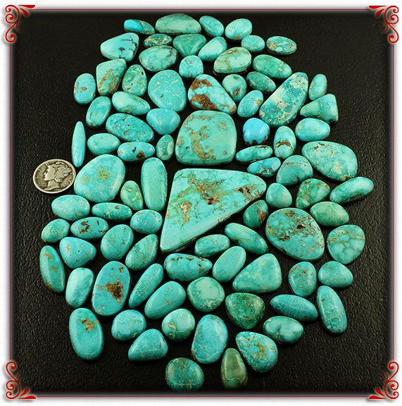 Natural Turquoise Mountain Cabochon Lot