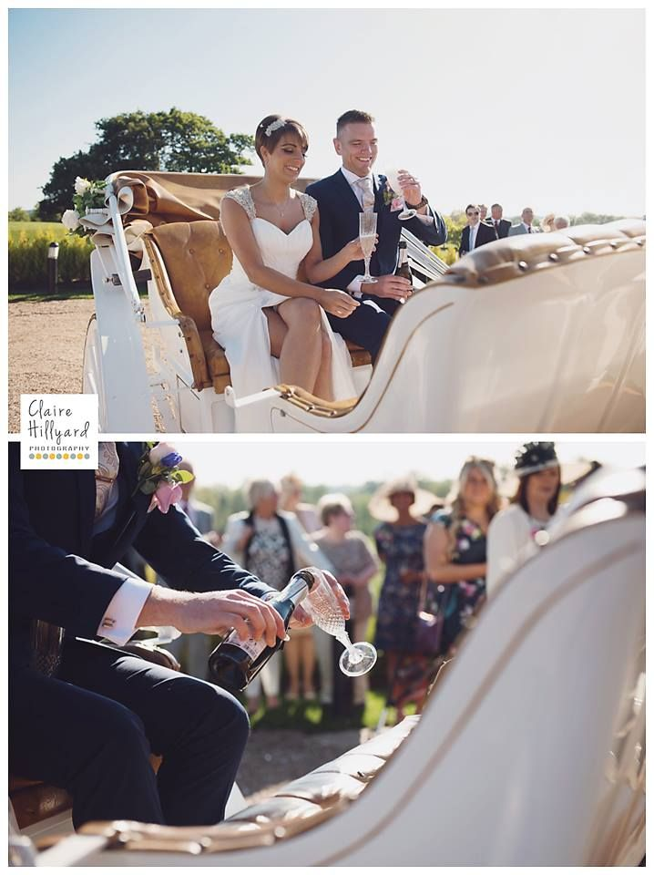 Lucy & Alan's Horse Drawn Carriage by @clairehillyard