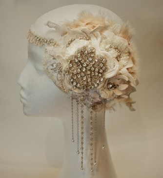 Jewelled 20s style headpiece. Gorgeous! The 20s are about to make a huge comeback but probably not enough to justify wearing this beauty.