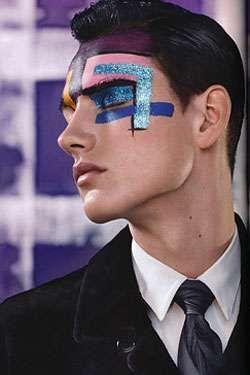 Glittery Man Makeup