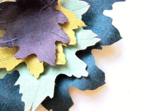 fabric leaf bowls, perfect for decorating during autumn