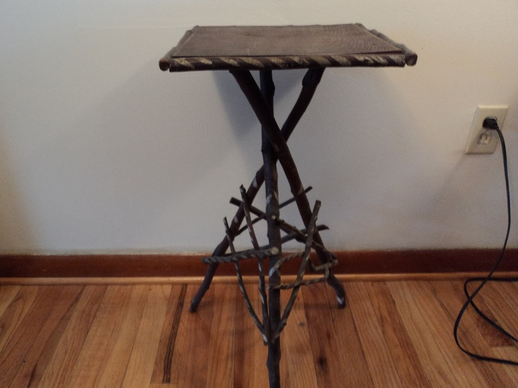 Adirondack Table Hand Made With Tree Branches