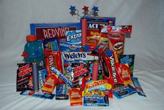 Red-White-and Blue missionary care package!! Great for July! On my etsy page!