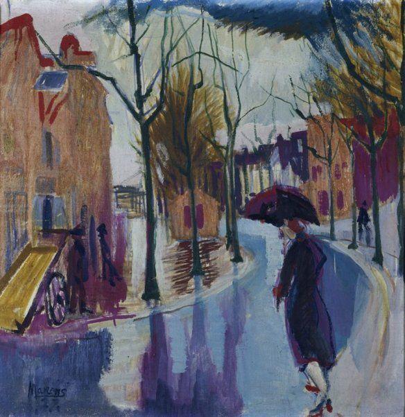 George Martens, Kattendiep in de regen, 1927, Bruikleen Stichting De Ploeg
