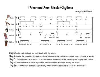 Have a blast with these Pokemon ostinato rhythms! :) Speak first, then perform on instruments.