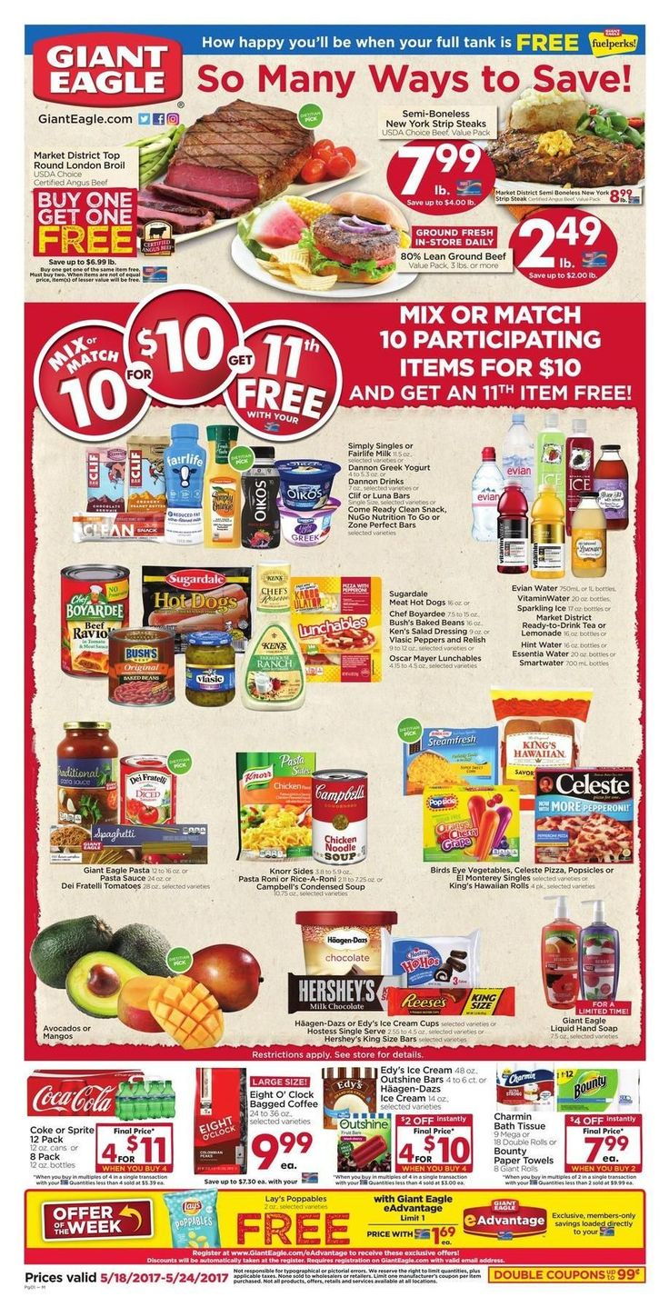 Giant Eagle Weekly Ad Circular May 18 - 24 United States #grocery #savings #GiantEagle