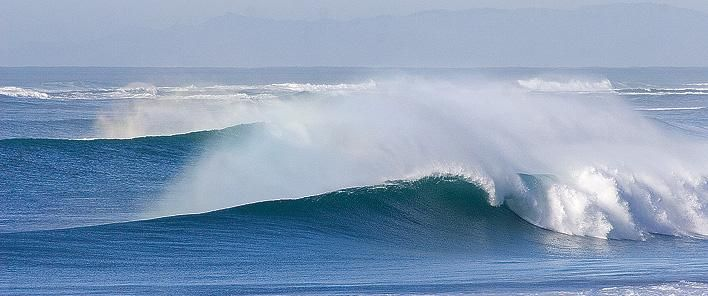 Nice waves at Wainui Beach, north of Gisborne, on the East Coast of New Zealand.