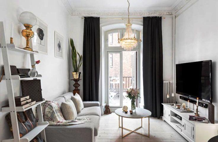 Дизайн квартиры в черно-белом цвете - 1