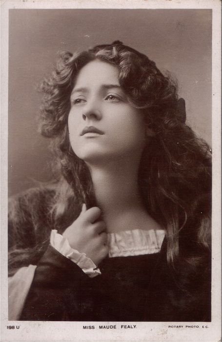 Maude Fealy..silent film Star and renowned beauty . She transited to talkies and was in or an extra in every film of Cecile B Demille. He also had a provision in his will that for her entombed in Hollywood Forever Cemetary where he was also buried.                                                                                                                                                                                 More