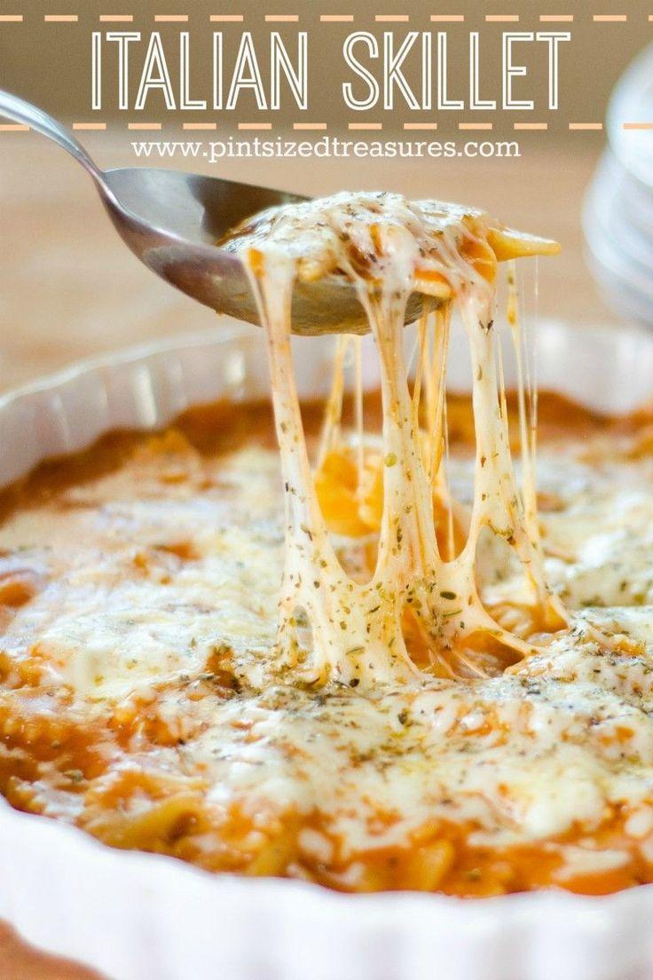 easy Italian cheesy skillet recipe