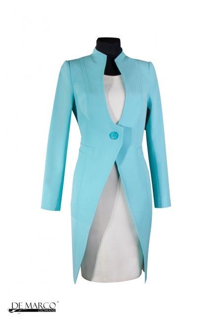 Błękitny płaszcz do sukienki.   http://www.sklep.demarco.pl/pl/plaszcz-krolewski-w1b?utm_content=bufferf1d57&utm_medium=social&utm_source=pinterest.com&utm_campaign=buffer