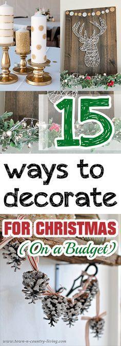 Christmas, cheap christmas decor, inexpensive DIY christmas decorations, popular pin, cheap christmas decor, frugal christmas decor. More