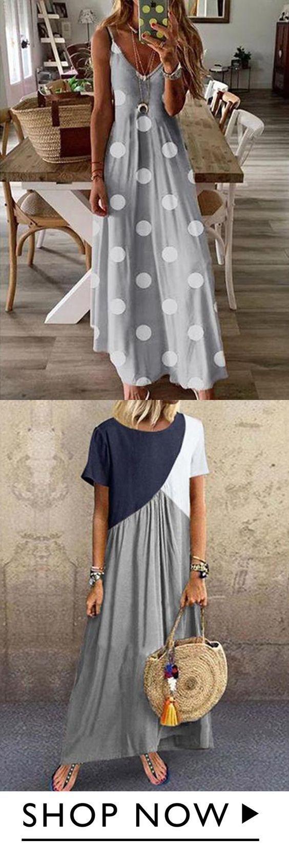 Böhmisches Kleid mit V-Ausschnitt – Sommerkleider