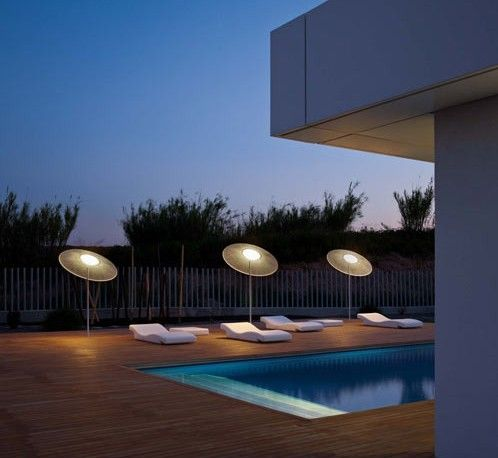 Outdoor lighting what provides shade in the day provides light at night love