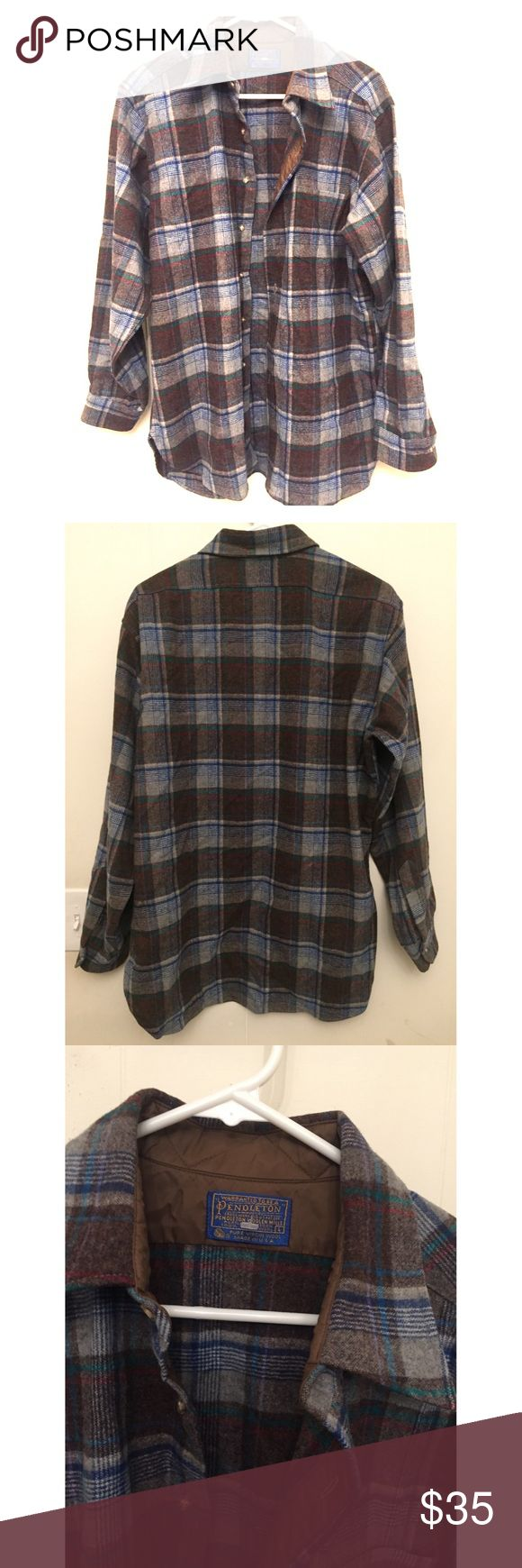 Pendleton Button Up Shirt %100 Wool Brand New Pendleton Shirt, %100 Wool Shirt, Never Worn, Shirts seems Ready for any chilly weather and Stylish with any Outfit, you don't know about this brand please look it up!!!! Great Deal here.... $79.99 Retail Value!!!! Pendleton Shirts Casual Button Down Shirts