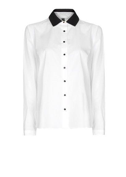 MANGO - Contrast collar shirt