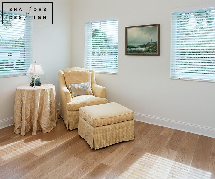 Traditional White Wooden Blinds In Miami Beach Window Treatments