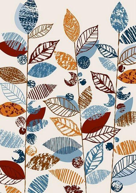 found on iheartprintsandpatterns.blogspot.com textile print designed by Eloise Renouf (MMU graduate 1995)