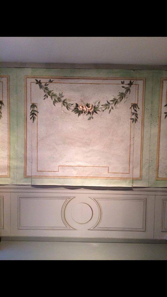 Wallpainting Gustavian Style on paper