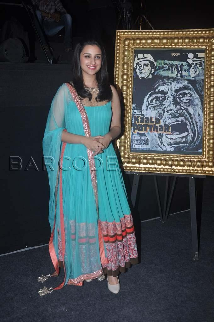 Parineeti Chopra in Torquise blue Anarkali