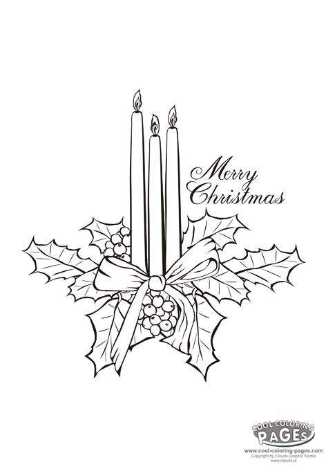christmas candles christmas coloring pages