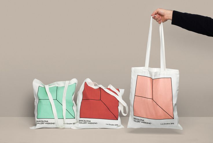 Brand identity and tote bags for Barcelona Gallery Weekend by Hey.