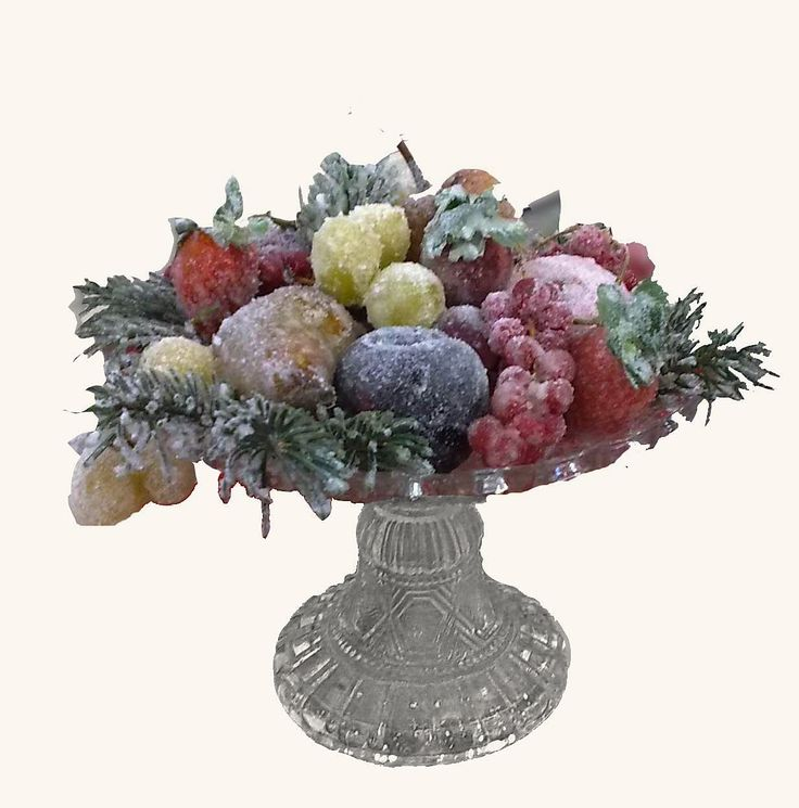 This centerpiece uses a very old frosting technique that can also be used on edible flowers such as roses or violets when decorating desserts. You can prepare the centerpiece up to two days ahead of time as long as you...Read More...