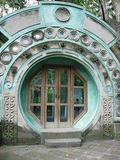 round door: Big Doors, Blue Doors, Houses Doors, Architecture, Gates, Glasses Doors, Art Deco, Round Doors, Bali Indonesia