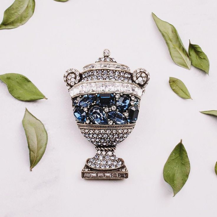 "If you are on the hunt for a new pin...look no further! For limited time only, my ""Jeweled Jardinière"" pin is on sale for 25% off!! This masterpiece has big beautiful Montana crystals, clear crystals, and more! . . . #accessories #swarovski #crystal #gems #sparkle #fashion #designer #hsn #pearls #necklace #costumejewelry #jewelry #bow #elegance #fashionaccessories #statement"