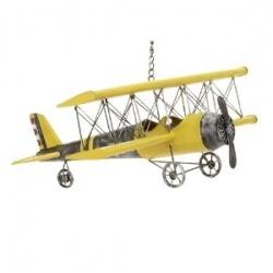 yellow antique toys as accessory in boy nursery-w/grey argyle wall