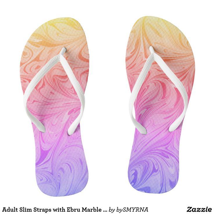 Adult Slim Straps with Ebru Marble Art D#1-Ipanema