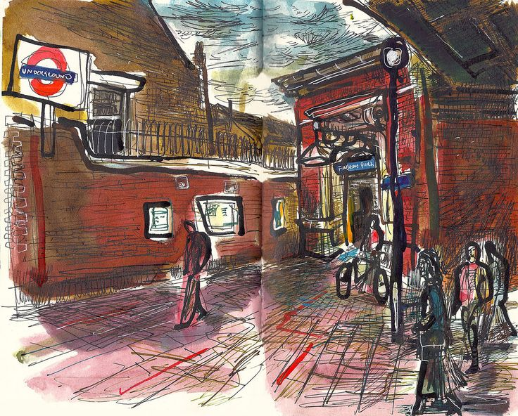 Entrance to Finsbury Park Station.