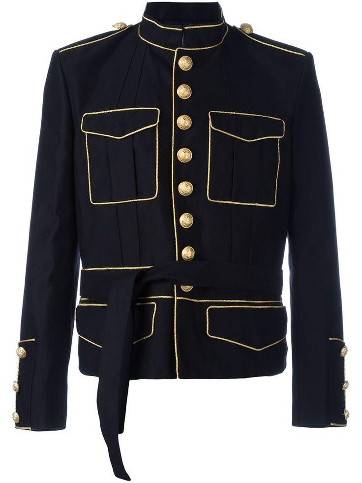 Купить Куртка черная в стиле милитари Balmain купить за 215718 рублей