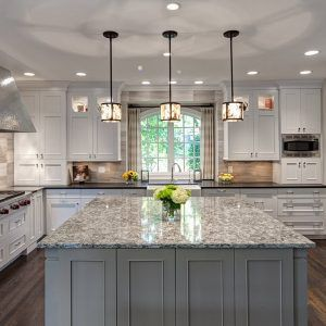 White Kitchens With Two Islands