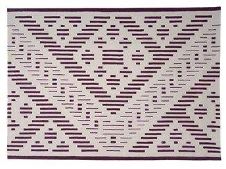Handmade rectangular wool rug with geometric shapes HYPER - Dare to Rug