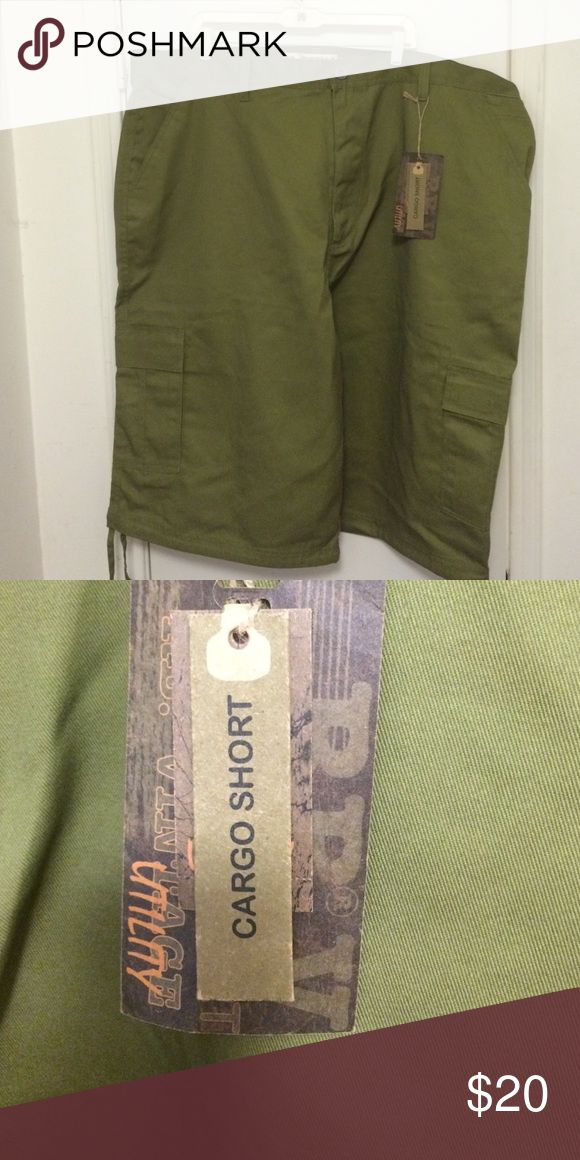 Big Men's Cargo Shorts, olive green, size 50 Big Men's Cargo Shorts, olive green, size 50 Shorts Cargo