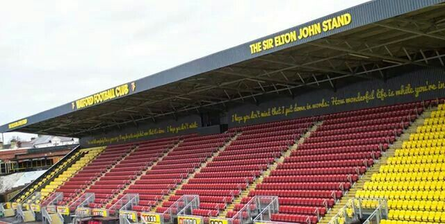 New stand Watford FC. Gonna be sat in this stand for the game when Watford become Champions v Sheffield Wednesday!!
