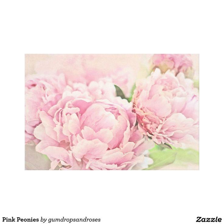 Rosa pioner canvastryck