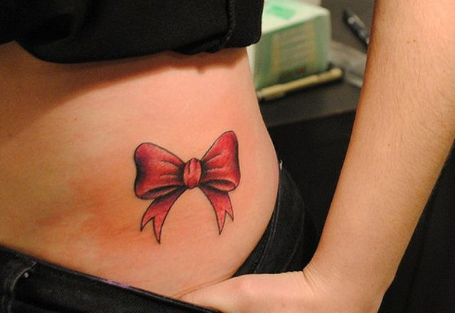 red bows on the back of thighs tattoo - Google Search