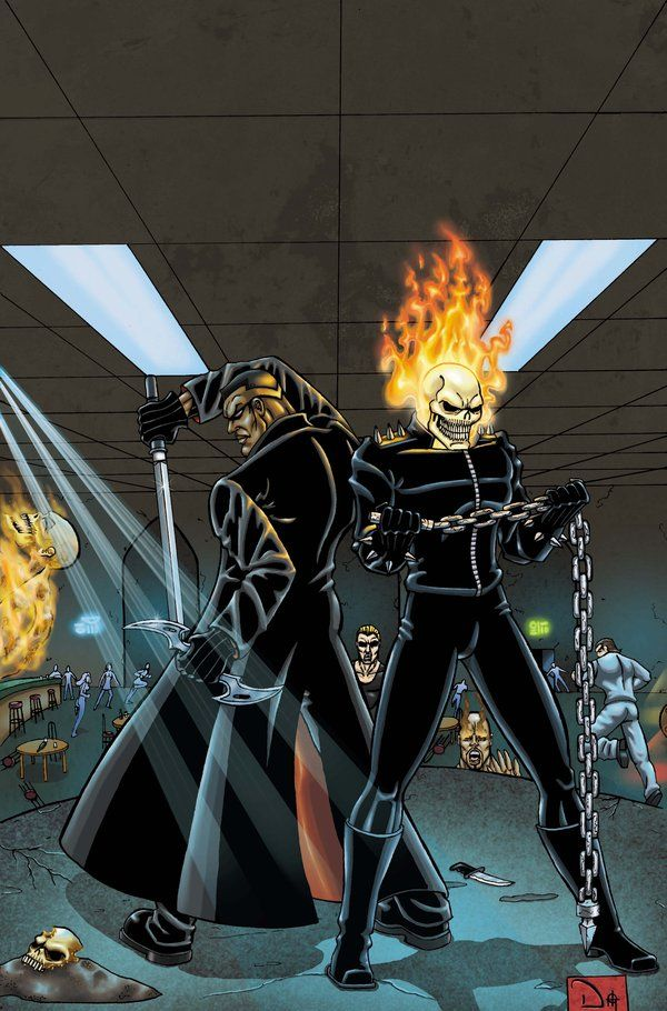 GHOST RIDER AND BLADE by DAVID-OCAMPO on deviantART