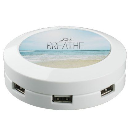 Just Breathe at the Beach USB Charging Station - blue gifts style giftidea diy cyo