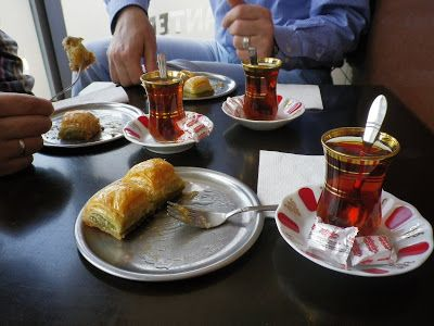 Baklava and thea are typical Turkish - Mo