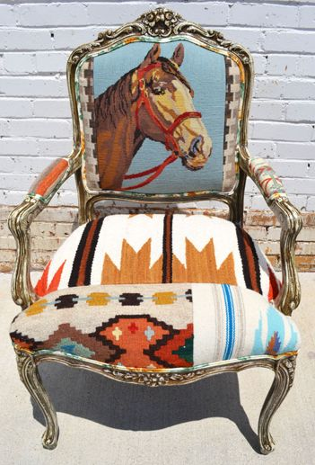 Needlepoint Horse Chairs from The Gypsy Wagon. If my Mom was alive...this would…