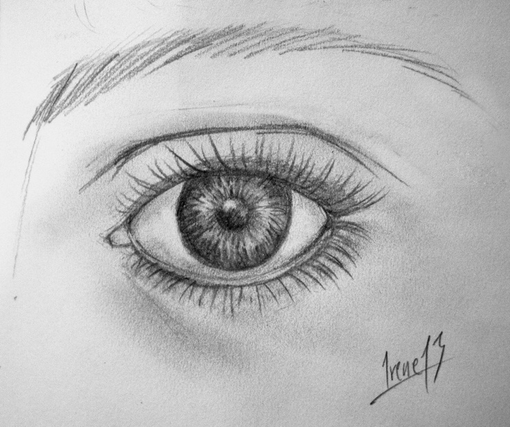 Irene: Realistic eye made with graphite