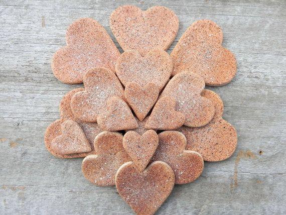 Cinnamon Hearts Group of 18 Mini Cinnamon by cookiedoughcreations, $10.50