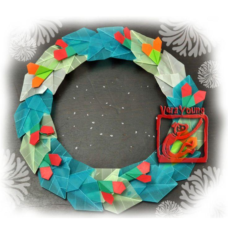 Guirlandas de Origami para o Natal… | Coisas de Pano e Papel